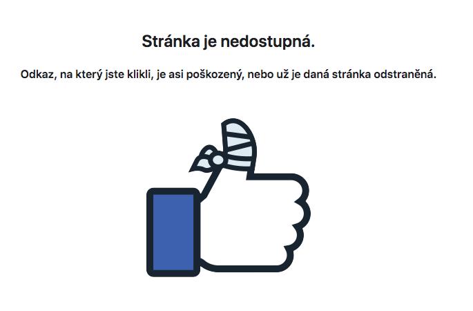 facebook nedostupna
