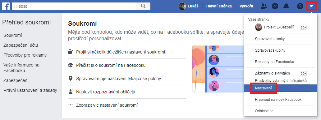 fb nastaveni